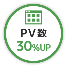 PV数 30%UP